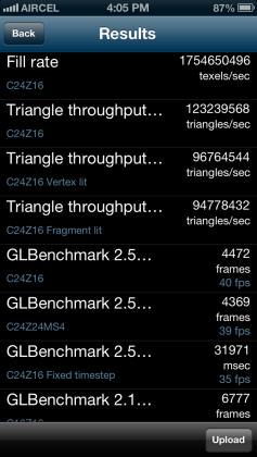 GL Benchmark iPhone 5