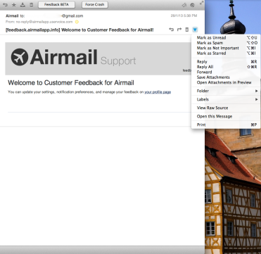 Message Pane Airmail